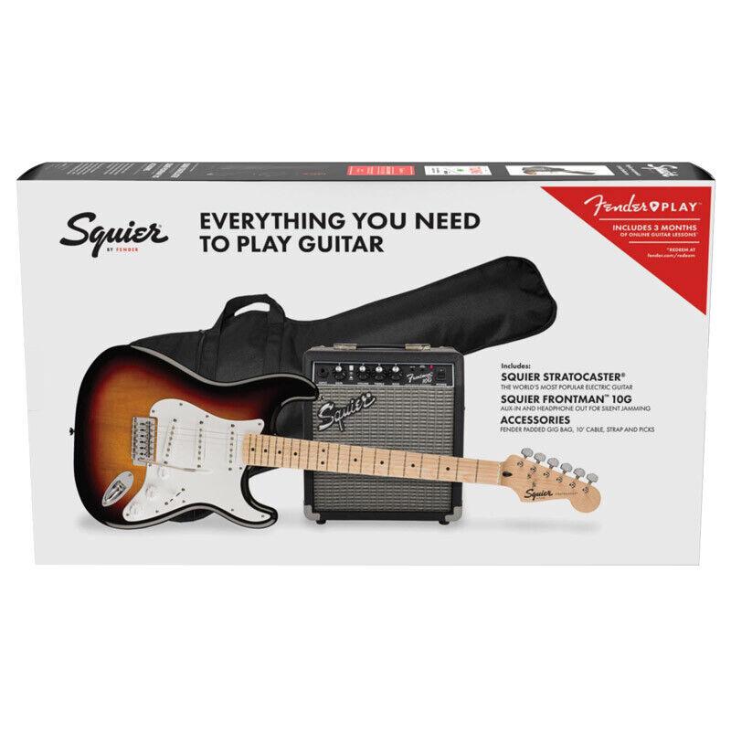 Fender Squier FSR  Stratocaster Pack, 3-Colour Sunburst (NEW)