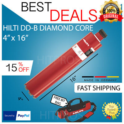 Hilti Dd-b 4 X 16 Hcs Diamond Core Bit New Free 12v Driver Fast Ship
