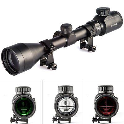 3-9X50 E Rifle Scope Mil-dot Illuminated Red & Green Hunting Optical Scope