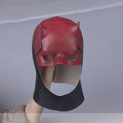Movie Daredevil Mask Adult Fantastic Cosplay Mask Latex Halloween Horrible Props - Daredevil Halloween Mask