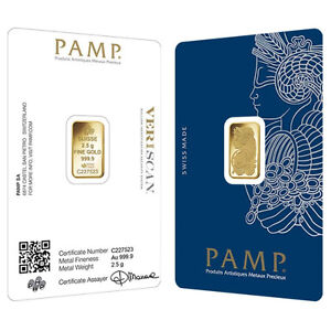 Lady Fortuna Gold PAMP bar 2,5 g 24k Veriscan