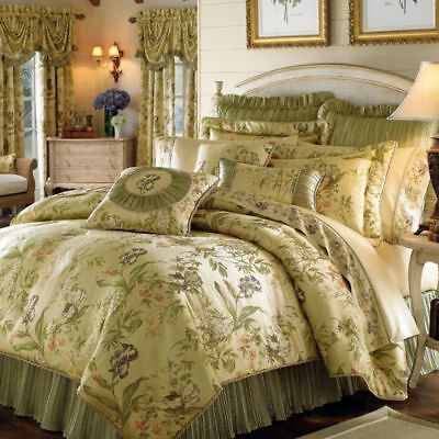 Croscill Queen Size Comforter - CROSCILL IRIS 4PC  COMFORTER SET QUEEN SIZE