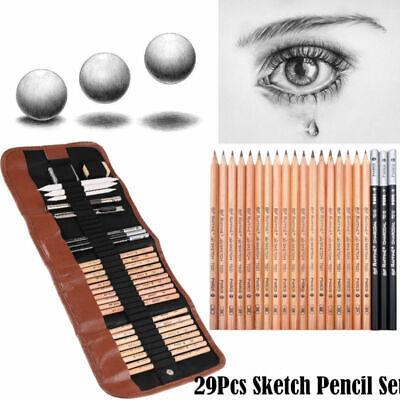 Drawing Kit (29Pcs Professional Sketching Drawing Artist Kit Set Pencil Charcoal Art Tool)