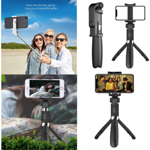 Extendable Selfie Stick Tripod + Bluetooth Remote Shutter For Phone Gopro