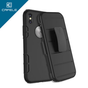 Iphone X & Xs Genuine  Shockproof 2 in 1 Belt Clip Case Cover