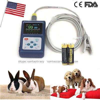 Usa Handheld Veterinary Pulse Oximeter Cms60d-vettongue Spo2 Probeswbattery