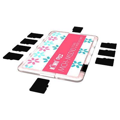 KIWI Ultra Slim Memory Card Holder Storage Protector Fits10 Micro SD Cards Pink Ultra Slim Microsd