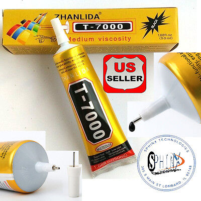50ml T-7000 needle type phone screen black glue DIY craft jewelry adhesive GREAT