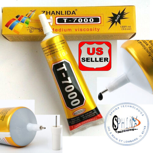 50ml T-7000 needle type phone screen black glue DIY craft jewelry adhesive GREAT