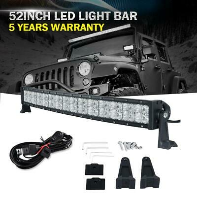 32inch 420W CREE Curved LED Light Bar Flood Spot Offroad Truck DRL for Jeep UTV