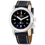 Glycine Airman Automatic Black Dial Mens Leather Watch GL0063