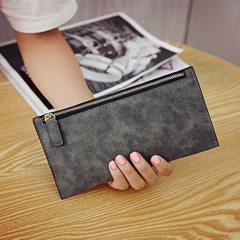 Women Slim Soft Leather Wallet Card Holder Phone Bag Purse Long Handbag US Clothing, Shoes & Accessories