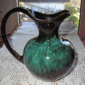 Vintage Blue Mountain Pottery Pitcher Green Hues