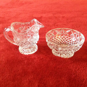 Lead Crystal Cream and Sugar Set