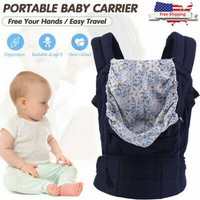 Adjustable Breathable Infant Baby Carrier Ergonomic Wrap Sling Newborn Backpack!