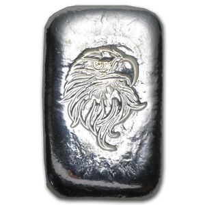 Bar en argent/silver 1 oz atlantis eagle hand poured