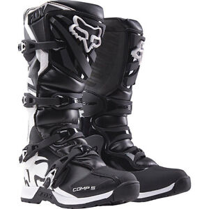 FOX COMP 5 BLACK SIZE 9 MOTORCYCLE BOOTS