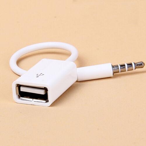 2016 Brand New Car 3 5mm Audio Music Aux Cable Input: 3.5mm Male AUX Audio Plug Jack To USB 2.0 Female Converter