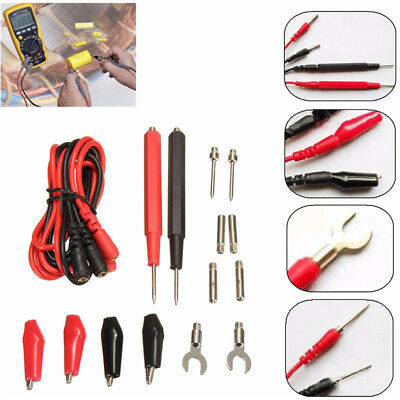 16 Set Universal Test Lead Probe Wire Pen Cable For Digital Multimeter Meter H-2