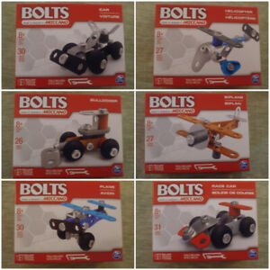 Meccano Bolts Complete Set of 6 Building Sets Spinmaster