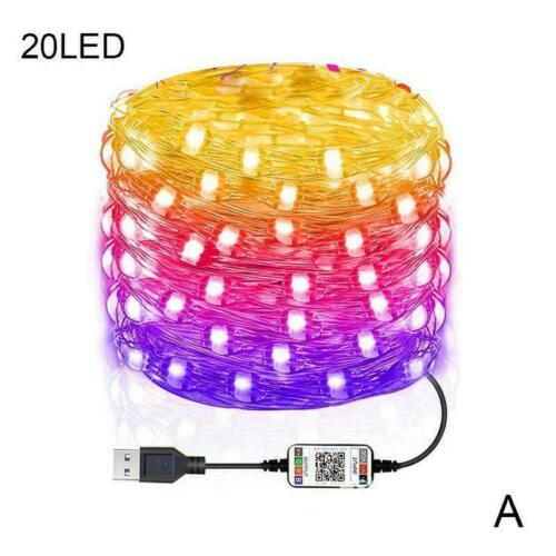 2020 Christmas Tree Decoration Light Custom LED String Lights App Remote Control