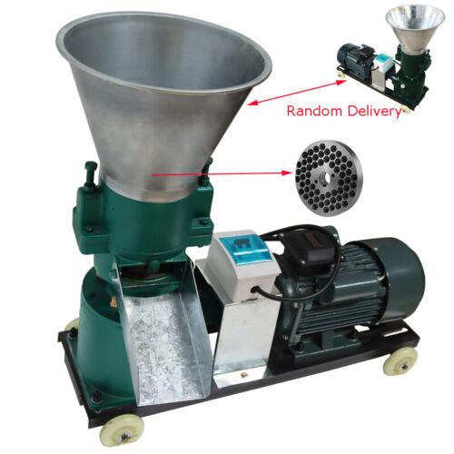 6mm Holes Feed Pellet Mill Machine Pelletizer with 4.08HP Motor 220V Farm Best