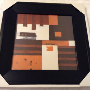 """Framed """"Abstract"""" Wall Art – BRAND NEW IN BOX"""