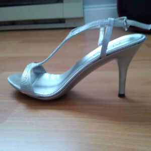 Silver Sandals - Perfect for Prom, Wedding or Event !