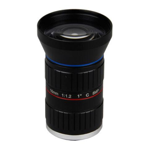 """starlight 8MP 4K 1"""" 16mm F1.2 Manual ITS Road Traffic Surveillance CCTV Lens"""