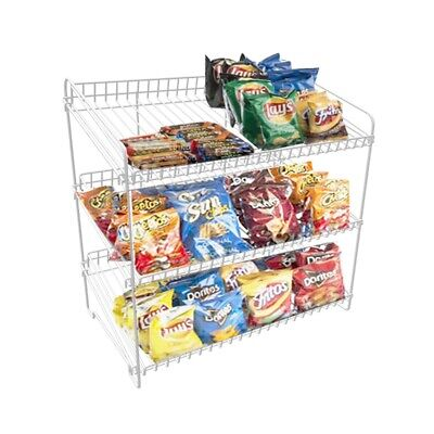 Metal Wire Rack 3-tier Shelves Countertop Concession Display Confection Stand