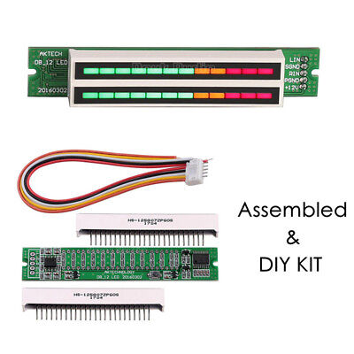 Mini Dual 12led Level Indicator Meter Music Sound Audio Display Analyzer Diy Kit