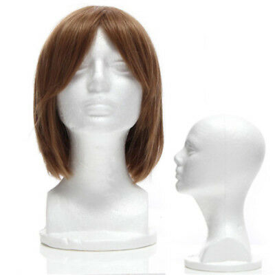 Female Styrofoam Mannequin Foam Wig Hair Head Model Glasses Hat Display Stand Us