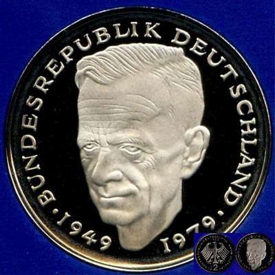 1990 D * 2 Mark Kurt Schumacher, Polierte Platte PP proof top