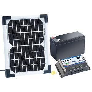 revolt Solarpanel (5 W) mit Ladewandler und Blei-Akku