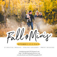 Time to Book Your Fall Mini Sessions!