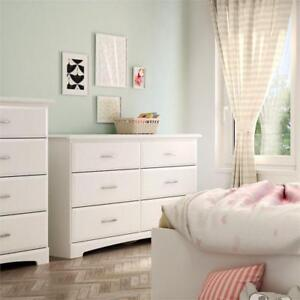 Callesto Transitional 6-Drawer Double Dresser - Pure White