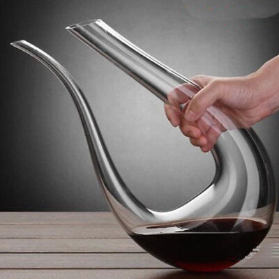 Luxury U Red Shape Wine Decanter Crystal Glass Wine Pourer Wine Carafe 1500ml for sale  Shipping to South Africa