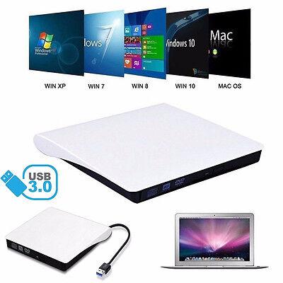 Externe DVD Laufwerk USB 3.0 CD RW Brenner Kopierer Writer für Laptop PC Mac