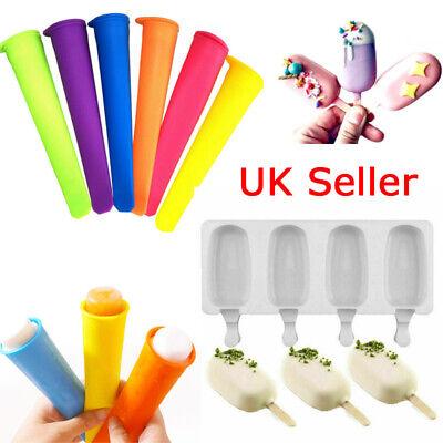 4x DIY Ice Cream Popsicle Mould Tray Lolly Maker Freezer Frozen Yogurt Icebox UK