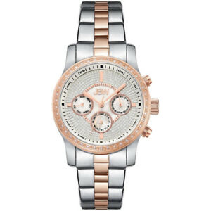 NEW JBW J6327B Vixen 42 Genuine Diamond 2-Tone Rose Gold Watch
