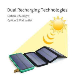 solar power bank for iphone, ipad, samsung, camera, android