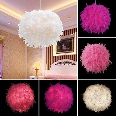 Pendelleuchte Moderne Federn Hängelampe Wohnzimmer Deko Licht Lampe Hängeleuchte
