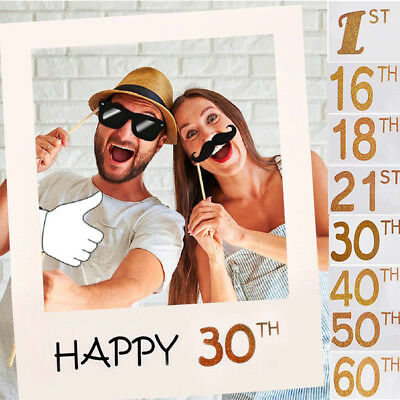1PC Couple Home Party Frame Birthday 1st/16/18/21/30/40/50/60th Photo Prop Decor