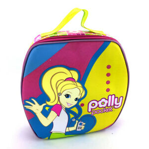 Polly Pocket Kids Bag Lunch School Storage Carrying Backpack