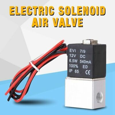 12v 14 2 Way Pneumatic Aluminum Electric Solenoid Air Valve Normally Closed Z