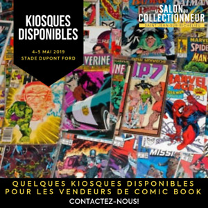 kiosque de vente au Salon du collectionneur 2019