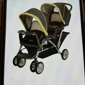 double stroller infant seat can be attached