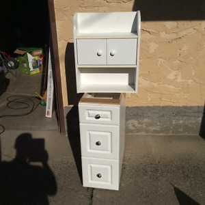 3 drawer cabinet and wall cabinet