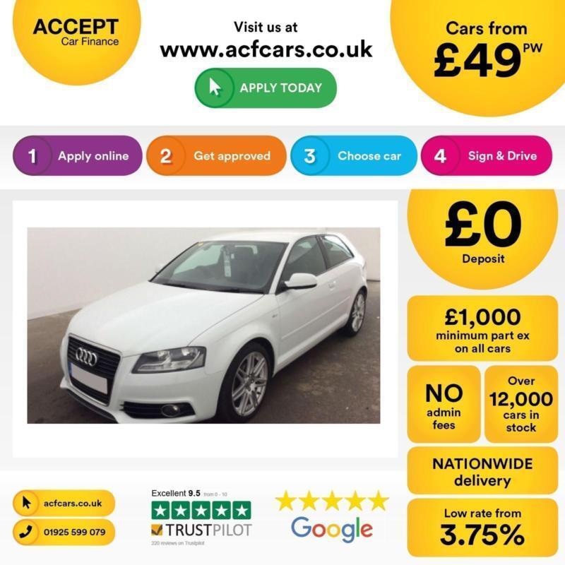 Audi A3 2.0TDI S Line FROM £49 PER WEEK