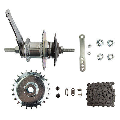 ADULT TRICYCLE REAR HUB COASTER BRAKE HUB CONVERSION KITS 3/
